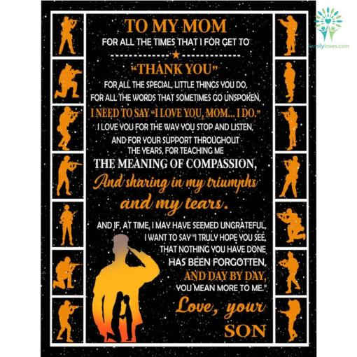 To My Mom Microfiber Duvet Cover Gift %tag familyloves.com
