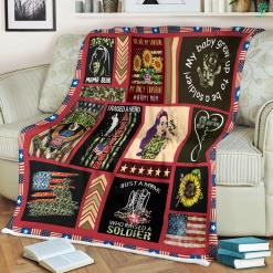 Proud Army Mom Sherpa Fleece Blanket %tag familyloves.com