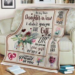 To My Dear Daughter-in-law Quotes Sherpa Fleece Blanket %tag familyloves.com