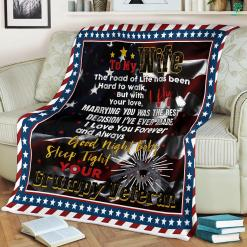 To My Wife Sherpa Fleece Blanket %tag familyloves.com