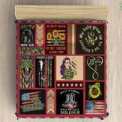 Proud Army Mom Microfiber Duvet Cover Gift %tag familyloves.com