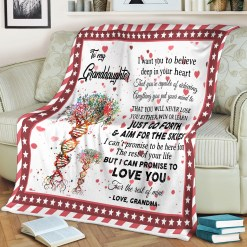 To My Granddaughter Sherpa Fleece Blanket %tag familyloves.com