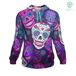 Sugar Skull ugly christmas hoodie %tag familyloves.com