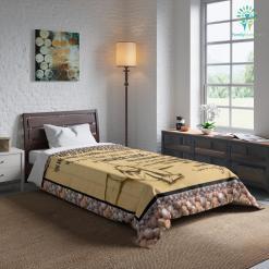 To My Grandson Comforter Gift %tag familyloves.com