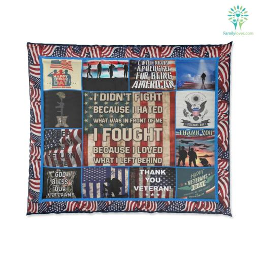 U.S. veterans assistance foundation Comforter %tag familyloves.com