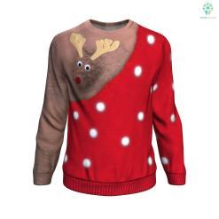 Rudolph Dark Skin UGLY CHRISTMAS SWEATER %tag familyloves.com
