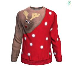 Rudolph Dark Skin UGLY CHRISTMAS SWEATER %tag familyloves.com