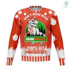 don't mess with nana saurus UGLY CHRISTMAS SWEATER wp %tag familyloves.com