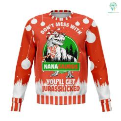 don't mess with nana saurus UGLY CHRISTMAS SWEATER wp %tag familyloves.com