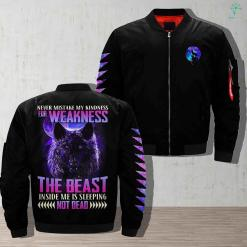 Wolves at the door - never mistake my kindness for weakness the beast inside me is sleeping not dead jacket %tag familyloves.com