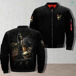 Skeleton Of Death Jacket %tag familyloves.com