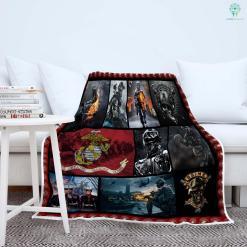U.S. Marine Corps recruiting Sherpa Fleece Blanket %tag familyloves.com