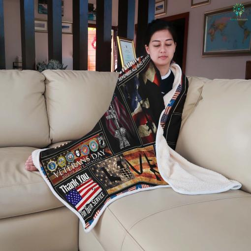 U.S. veterans administration Sherpa Fleece Blanket %tag familyloves.com