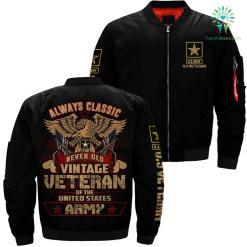 Army veteran Jacket - never old vintage veteran of the U.S Army %tag familyloves.com