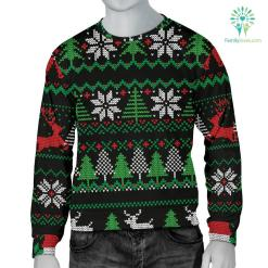 Ugly Christmas Red Green Black Men's Sweater %tag familyloves.com