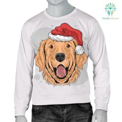 Have A Golden Christmas Men's Sweater for Golden Retriever Dog Lovers %tag familyloves.com