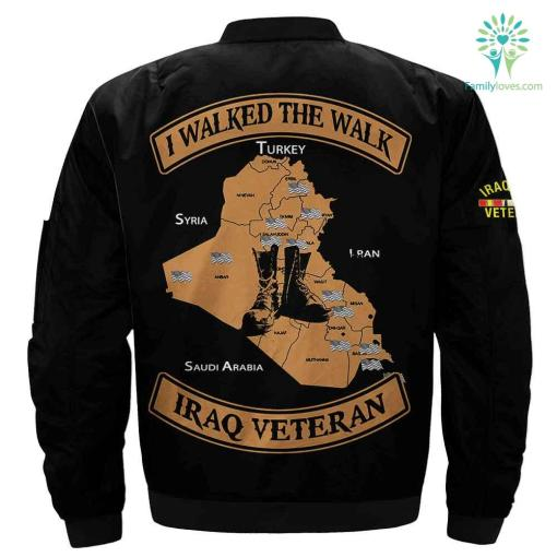 Iraq veteran - i walked the walk iraq veteran jacket %tag familyloves.com