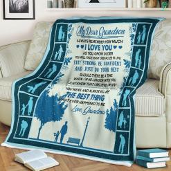 My Dear Grandson Sherpa Fleece Blanket %tag familyloves.com