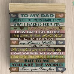 To My Dad Microfiber Duvet Cover Gift %tag familyloves.com