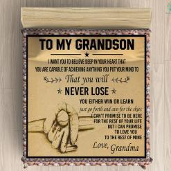 To My Grandson Microfiber Duvet Cover Gift %tag familyloves.com