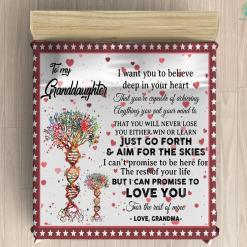 To My Granddaughter Microfiber Duvet Cover Gift %tag familyloves.com