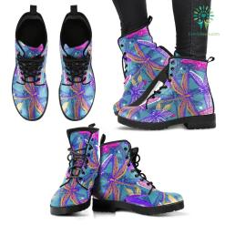 Handcrafted Dragonfly Pattern 5 Boots %tag familyloves.com