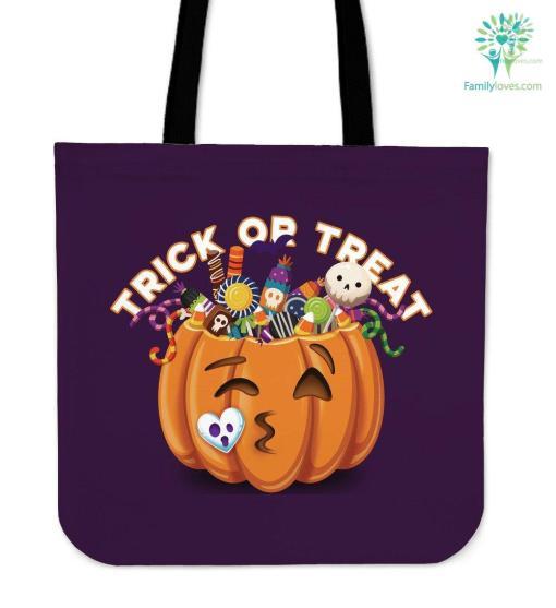 Trick Or Treat Puple Tote Bag %tag familyloves.com
