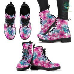 Pink Tropical Hummingbird Boots %tag familyloves.com