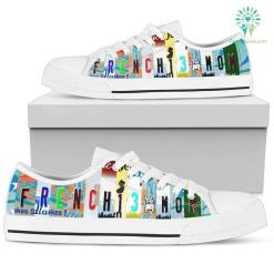 Frenchie Mom Low Top Shoes %tag familyloves.com