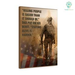 """Laurie Anderson Quotes""""Killing people is easier than it should be."""" Dad put on his beret. """"Staying alive is harder."""" Canvas %tag familyloves.com"""