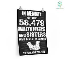 In Memory of The 58479 Vietnam Veteran Military Poster %tag familyloves.com