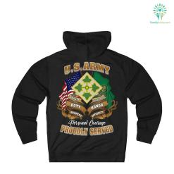 U.S. Army 4th Infantry Division Hoodie %tag familyloves.com