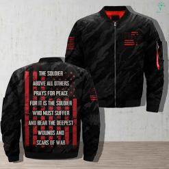 Prayer For The Soldier-The Soldier Above All Others Prays For Peace Jacket %tag familyloves.com