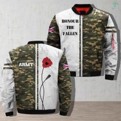 Army Flower Honour The Fallen Jacket %tag familyloves.com