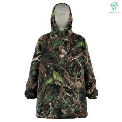 Green Hunting Camo - Snug Hoodie %tag familyloves.com