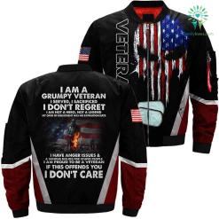I am a grumpy veteran 3D full print jacket %tag familyloves.com