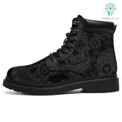 Dark Skull All-Season Boots %tag familyloves.com