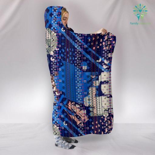 Boho Ethnic Abstract Art Hooded Blanket %tag familyloves.com