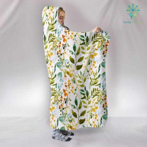 HandCrafted Boho Spring Hooded Blanket %tag familyloves.com