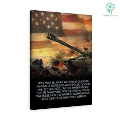 J. R. R. Tolkien quote Canvas-War Must Be While We Defend Our Lives Against A Destroyer... %tag familyloves.com
