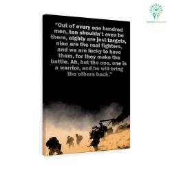 Heraclitus Quote Canvas-Out Of Every One Hundred Men, Ten Shouldn't Even Be There... %tag familyloves.com