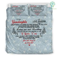To My Granddaughter Bedding Set Gift %tag familyloves.com