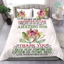 To My Daughter-In-Law Bedding Set Gift %tag familyloves.com