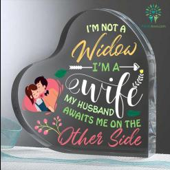 I'm Not A Widow I'm A Wife My Husband Heart Keepsake %tag familyloves.com