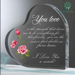 Your love is strength that drives me to do everything Heart Keepsake %tag familyloves.com