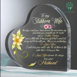 To my stubborn wife Heart Keepsake %tag familyloves.com
