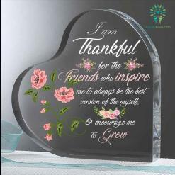 I am thankful for the friends who inspire me Heart Keepsake %tag familyloves.com