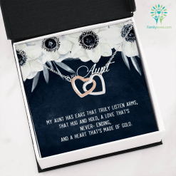 To my aunt a love that's never ending Necklace with Message Card %tag familyloves.com