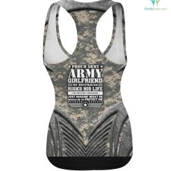 Proud Army Girlfriend Shirt Military Girlfriend Protects Me %tag familyloves.com