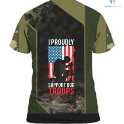 Cool Proudly Support Our Troops Armed Force Veterans %tag familyloves.com